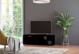 vidaXL Szafka pod TV, czarna, 120x34x37 cm, płyta wiórowa801153