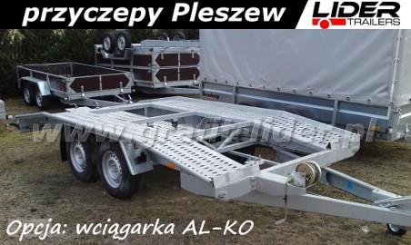 Przyczepa BR-014 AD45, 450x200cm, laweta garbatka, DMC 3000kg Boro