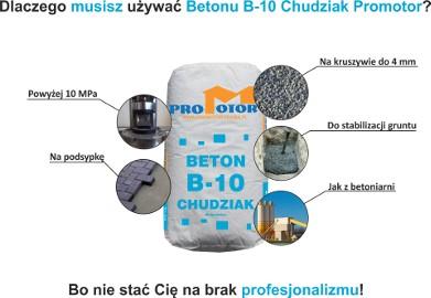 Beton B10 Chudziak - na podsypkę