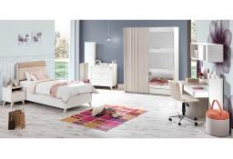 Meble młodzieżowe łóżko szafa komoda regał biurko ZESTAW SIENA Outlet -30%
