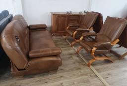 Gala Komplet skórzany- fotele, sofa - wersalka. Świetna cena!