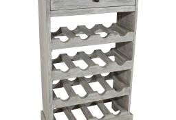vidaXL Stojak na wino, lite drewno z recyklingu, 55x23x85 cm244507