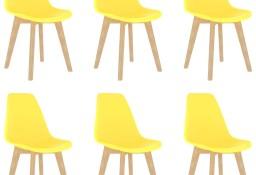 vidaXL Krzesła stołowe, 6 szt., żółte, plastik289118