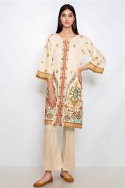 Nowa tunika kremowa kolorowa S 36 M 38 haft indyjska kameez kurta Bollywood etno boho hippie