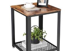 Mały stolik kawowy z półką, stolik nocny, industrialny, loft, rustykalny