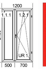 Drzwi Balkonowe OKNO Okna PCV Plastikowe SUPER PROMOCJA ! Kolor Do Wyboru-2