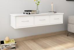 vidaXL Półka ścienna z szufladami, biała, 88x26x18,5 cm, płyta wiórowa800594