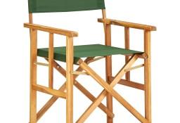vidaXL Krzesło reżyserskie, lite drewno akacjowe, zielone45953