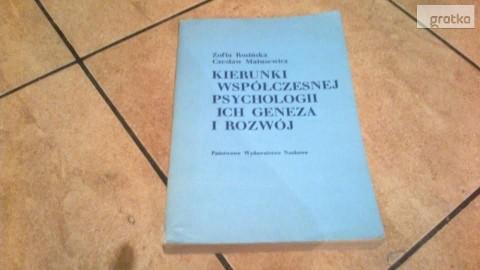 Kierunki współczesnej psychologi ich geneza i rozwój-Rosińska,Matusewi