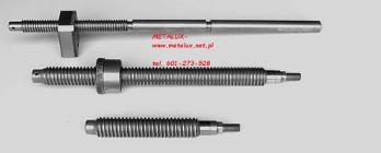 Śruba suportu poprzecznego z nakrętką do tokarki TPK 80