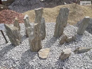 Kamienie Ogrodowe Monolity Głazy Kora Kamienna Szpilki Gnejs