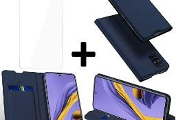 Etui DUXDUCIS + szkło do Samsung Galaxy A71 granatowy