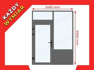 Drzwi Okna Przeszklone 2485x3000 mm Witryna Aluminiowa - NA DOWOLNY WYMIAR!-1