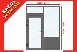 Drzwi Okna Przeszklone 2485x3000 mm Witryna Aluminiowa - NA DOWOLNY WYMIAR!