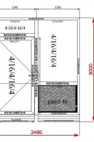 Drzwi Okna Przeszklone 2485x3000 mm Witryna Aluminiowa - NA DOWOLNY WYMIAR!-2