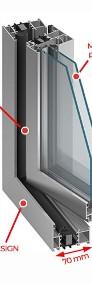 Drzwi Okna Przeszklone 2485x3000 mm Witryna Aluminiowa - NA DOWOLNY WYMIAR!-3