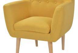 vidaXL Fotel, żółty, tkanina244069