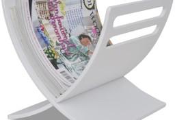 vidaXL Drewniany stojak na gazety, biały 241219