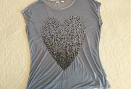 Bluzka z cekinowym sercem  XL