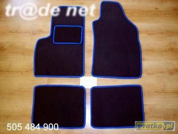 Fiat Panda od 2003r. najwyższej jakości dywaniki samochodowe z grubego weluru z gumą od spodu, dedykowane Fiat Panda