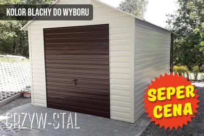 Garaż/domek ogrodowy z drewutnią, altana blaszana PRODUCENT