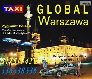 Tanie taxi z Warszawy do Modlina tylko 66 zł Global taxi tel. 517 517 426