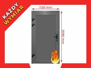 Drzwi PPOŻ Przeciwpożarowe EI30 EI60 EI90 EI120 - 112 x 209 cm Płyta-1