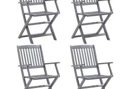 vidaXL Składane krzesła ogrodowe, 4 szt., lite drewno akacjowe46334