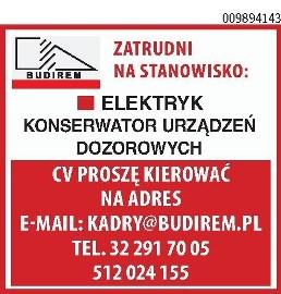 ELEKTRYK / KONSERWATOR URZĄDZEŃ DOZOROWYCH