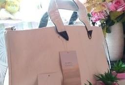 ZARA/ Biało-czarna torebka biznesowa z Hiszpanii, torba biznesowa/ NOWA