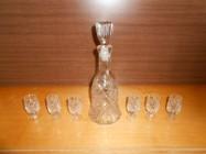 Kryształy Karafka + 6 kieliszków