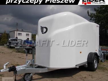 DB-002 bagażowa, do motocykli 300x150x170cm, hamowana Debon Cheval Liberte Furgon Cargo 1300.02 + drzwi boczne, DMC 1300kg-1