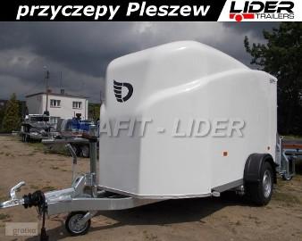 DB-002 bagażowa, do motocykli 300x150x170cm, hamowana Debon Cheval Liberte Furgon Cargo 1300.02 + drzwi boczne, DMC 1300kg