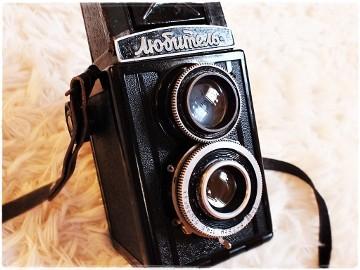 Pierwszy model lustrzanki aparat Lubitel pisany cyrylicą!