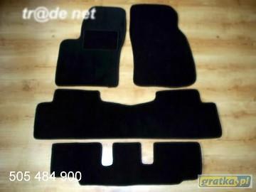 MAZDA 5 2005-2010 3 rzędy najwyższej jakości dywaniki samochodowe z grubego weluru z gumą od spodu, dedykowane Mazda 5