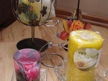 świeczniki ze świecami ozdobnymi zapachowymi cena za komplet-1