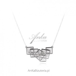 Naszyjnik srebrny GEOMETRIC - oryginalna biżuteria srebrna