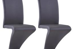 vidaXL Krzesła o zygzakowatej formie, 2 szt., szare, sztuczna skóra281668