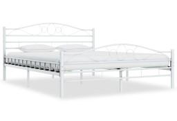 vidaXL Rama łóżka, biała, metalowa, 140 x 200 cm285303