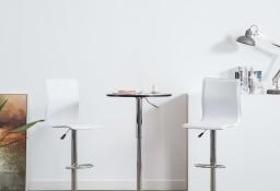 vidaXL Krzesła barowe, 2 szt., białe, sztuczna skóra246871