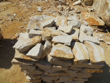 Naturalny kamień do ogrodu ogrodowy na skalniak łupek skarpy