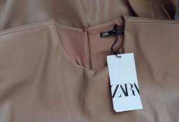 (38/M) ZARA/ Skórzana sukienka biznesowa z Madrytu/ NOWA