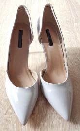 Nowe szare szpilki Lost Ink 40 buty obcasy szpiczaste czubki