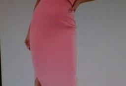 (38) ASOS/ Długa, rożowa sukienka ołówkowa/suknia wieczorowa/ NOWA z metką