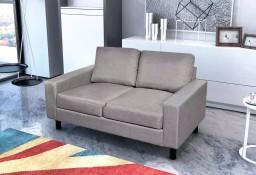 vidaXL Sofa 2-osobowa, materiałowa, jasnoszara241614