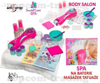 Masażer na Baterie Tatuaże Akcesoria SPA zabawka dla Dziewczynek