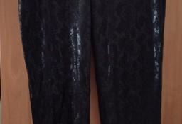 (40/L) ZARA/ Skórzane legginsy/ spodnie rurki z Madrytu/ perełka VINTAGE
