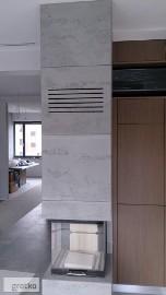 Kominki - płyty betonowe. Beton architektoniczny na kominki.