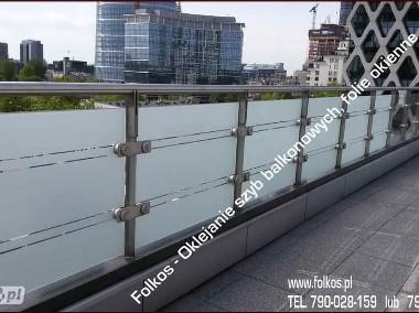 Folia na balkon Warszawa, Radzymin, Pruszków -Oklejanie szyb folią-1