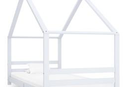 vidaXL Rama łóżka dziecięcego, biała, lite drewno sosnowe, 90 x 200 cm 289612